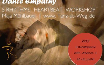 5 Rhythms Heartbeat mit Maja am 10. und 11. Juni 2017